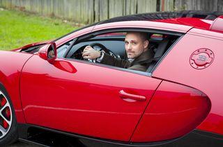 Me in a bugatti
